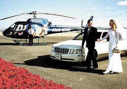 Helicopter Weddings Strip Wedding
